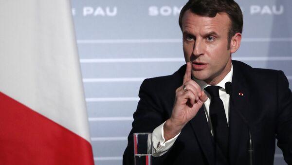 Francouzský prezident Emmanuel Macron - Sputnik Česká republika