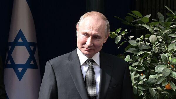 Ruský prezident Vladimir Putin vJeruzalémě - Sputnik Česká republika