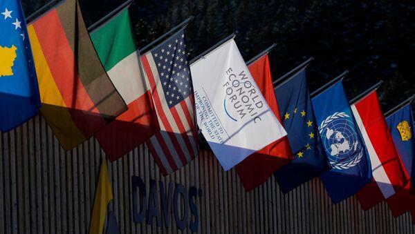 Státní vlajky na foru v Davosu - Sputnik Česká republika