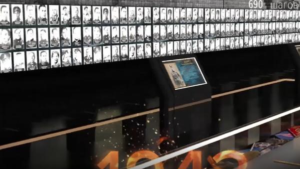 jedinečné záběry největší galerie na počest vítězství ve Velké vlastenecké válce. Zvěční činy 33 milionů vojáků - Sputnik Česká republika