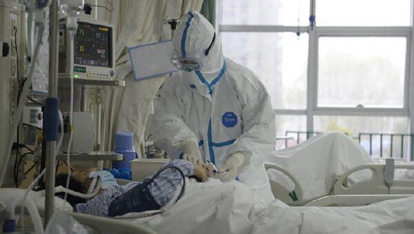 Pacient v centrální nemocnici ve Wu-chanu, Čína - Sputnik Česká republika