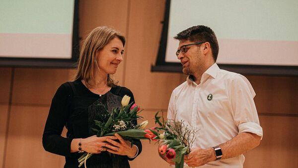 Noví předsedové Zelených -  Magdalena Davis a Michal Berg - Sputnik Česká republika