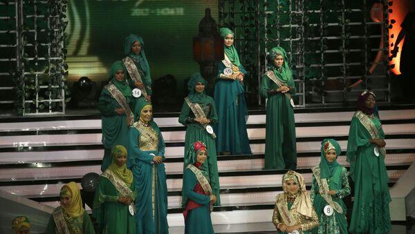 Účastnice 3. soutěže Miss World Muslimah v Jakartě - Sputnik Česká republika