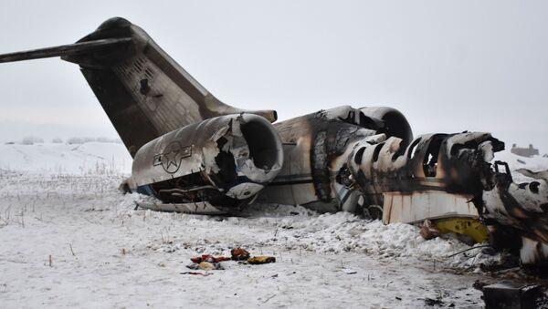 Trosky amerického vojenského letadla, které havarovalo v afghánské provincii Ghazní. 27 ledna 2020 - Sputnik Česká republika