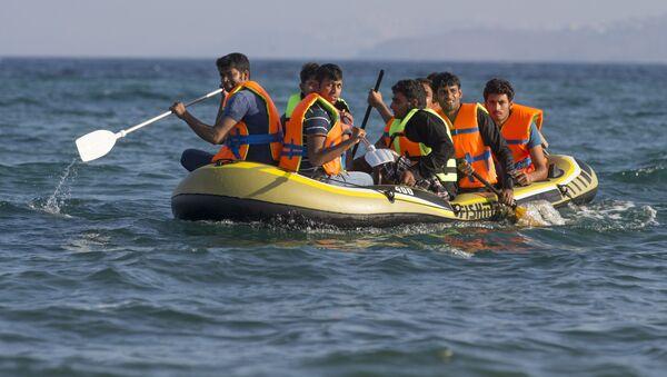 Uprchlíci u břehů Řecka - Sputnik Česká republika