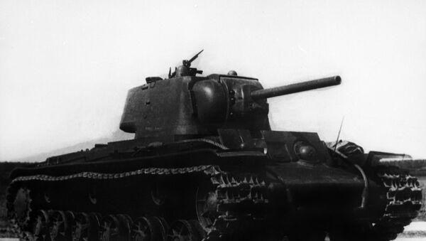 Těžký sovětský tank KV-1 - Sputnik Česká republika