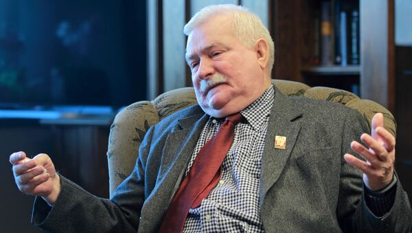 Bývalý polský prezident Lech Wałęsa  - Sputnik Česká republika