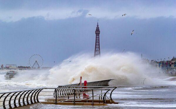Bouře v Blackpoolu, Velká Británie. - Sputnik Česká republika