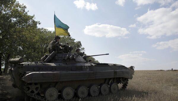 Ukrajinský voják v Luhanské oblasti - Sputnik Česká republika