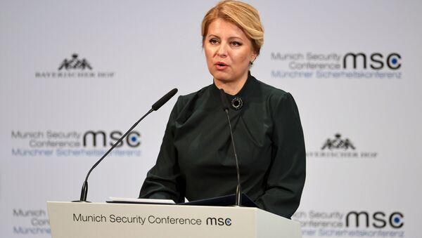 Slovenská prezidentka Zuzana Čaputová na bezpečnostní konferenci v Mnichově - Sputnik Česká republika