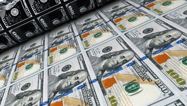 Tiskařský lis s dolary - Sputnik Česká republika