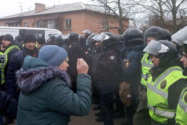 Potyčky mezi protestujícími a policií v Poltavské oblasti. - Sputnik Česká republika