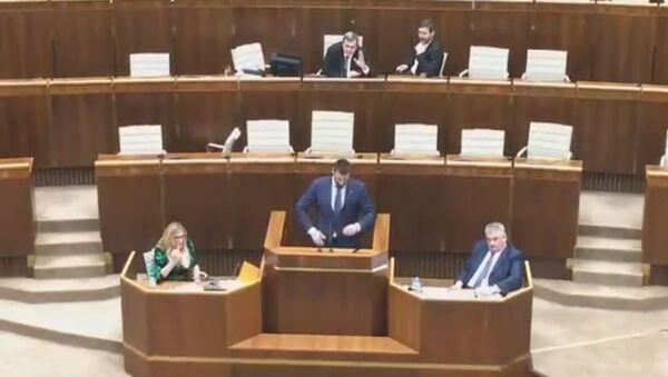 Hádka v parlamentu - Sputnik Česká republika