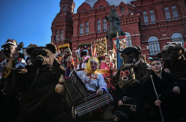 Slavnostní zahájení festivalu Moskevská Maslenica. - Sputnik Česká republika