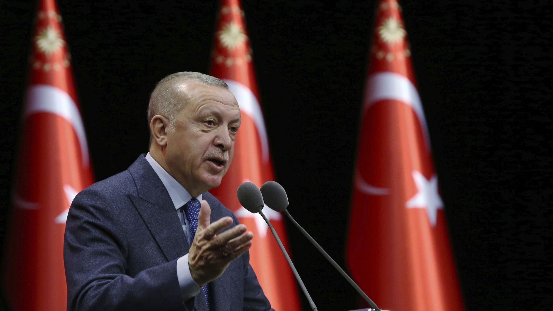 Turecký prezident Recep Tayyip Erdogan - Sputnik Česká republika, 1920, 09.02.2021