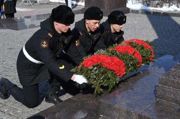 Kladení věnců ve Vladivostoku. - Sputnik Česká republika