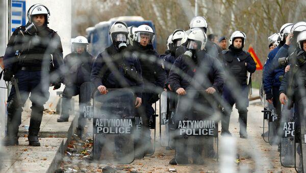 Zaměstnanci řecké policie - Sputnik Česká republika