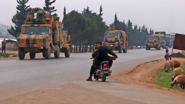 Turecký konvoj v provincii Idlib - Sputnik Česká republika