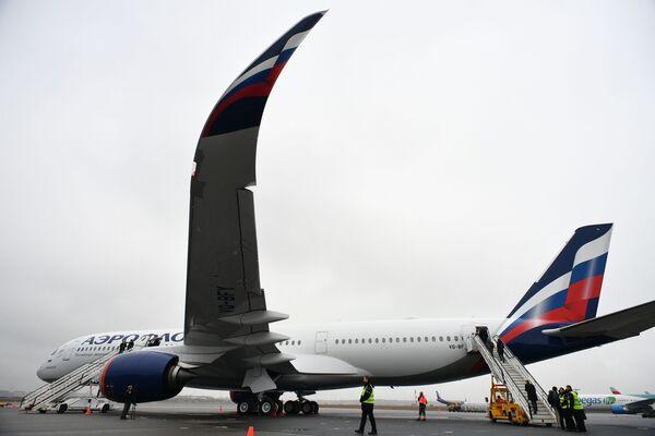 Letos bude A350 vykonávat lety z Moskvy do Ósaky a Singapuru. Kromě toho jsou plánovány lety do Dillí, Londýna, New Yorku, Miami, Tel Avivu.  - Sputnik Česká republika