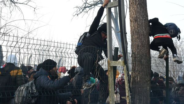 Syrští uprchlíci na hranicích Turecka a Řecka - Sputnik Česká republika