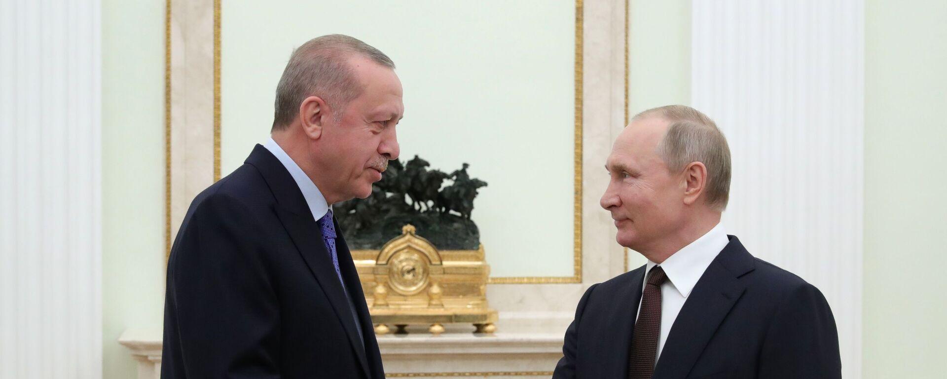 Recep Tayyip Erdogan a Vladimir Putin - Sputnik Česká republika, 1920, 29.09.2021