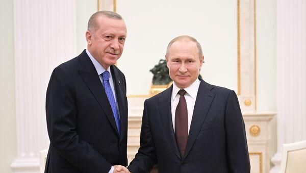 Vladimir Putin a Recep Tayyip Erdogan - Sputnik Česká republika