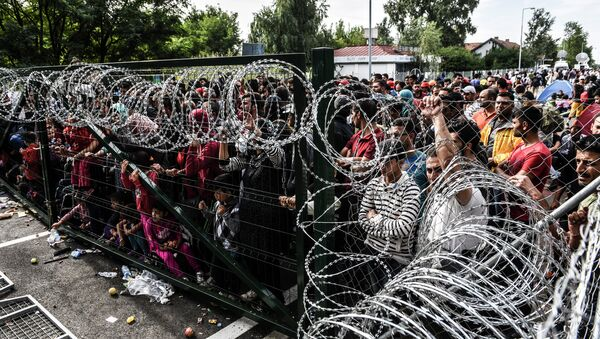 Migranti na srbsko-maďarské hranici - Sputnik Česká republika