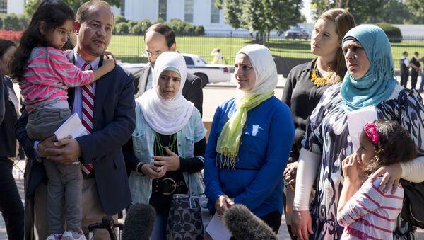 Syrští uprchlíci ve Washingtonu - Sputnik Česká republika
