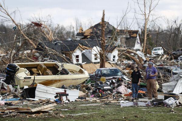 Dům v Tennessee, který zničilo tornádo (USA) - Sputnik Česká republika