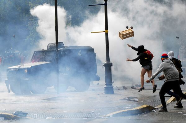 Protivládní protesty v Chile - Sputnik Česká republika