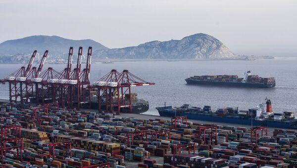 Nákladní lodě v Šanghajském přístavu - Sputnik Česká republika