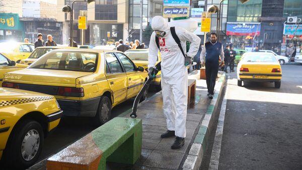 Dezinfekce ulic Teheránu - Sputnik Česká republika