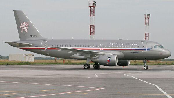 Armádní letoun Airbus A-319 na letišti Praha-Kbely. Ilustrační foto - Sputnik Česká republika
