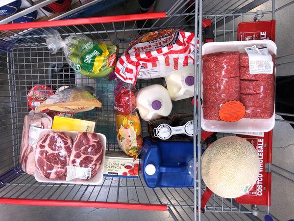 Nákupní vozík naplněný zbožím. Kanada - Sputnik Česká republika