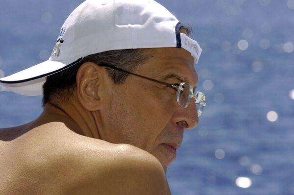 Sergej Lavrov na dovolené - Sputnik Česká republika