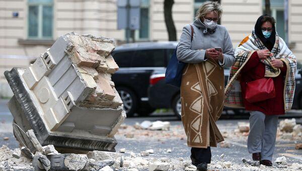 Následky zemětřesení v Záhřebu - Sputnik Česká republika