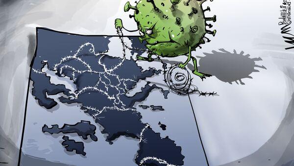Karikatura: Pandemie COVID-19 zpochybnila nápad globalizace  - Sputnik Česká republika