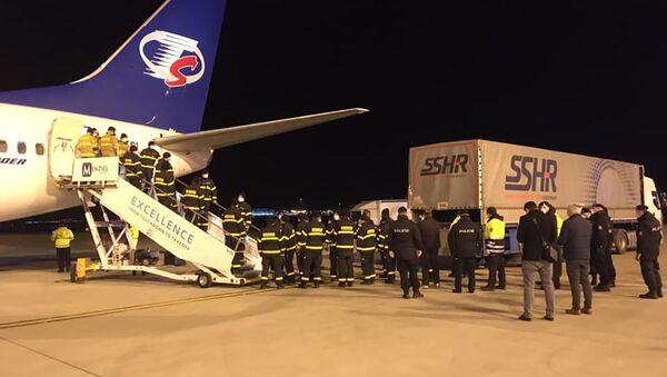Letadlo Smartwings s humanitární pomocí z Číny - Sputnik Česká republika