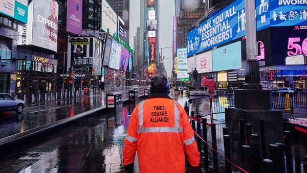 Opuštěné náměstí Times Square v New Yorku - Sputnik Česká republika