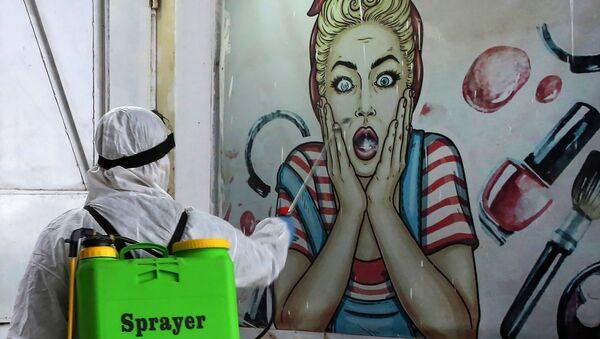 Dezinfekce na předměstí Bagdádu - Sputnik Česká republika