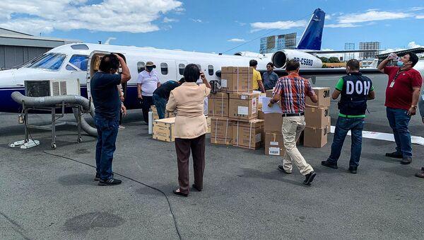 Letadlo IAI Westwind na letišti v Manile na Filipínách - Sputnik Česká republika