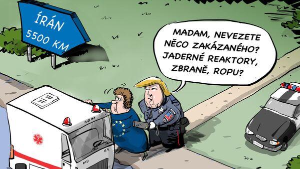 Francouzi pomáhají Íránu. Trumpovi je to jedno - Sputnik Česká republika