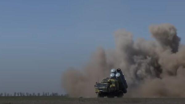 """Zkoušky ukrajinské rakety """"ohrožující Krymský most"""" byly natočeny na video - Sputnik Česká republika"""