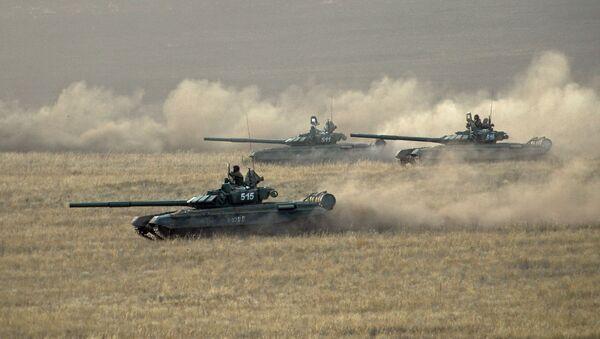 Tanky patřící ruským ozbrojeným silám - Sputnik Česká republika