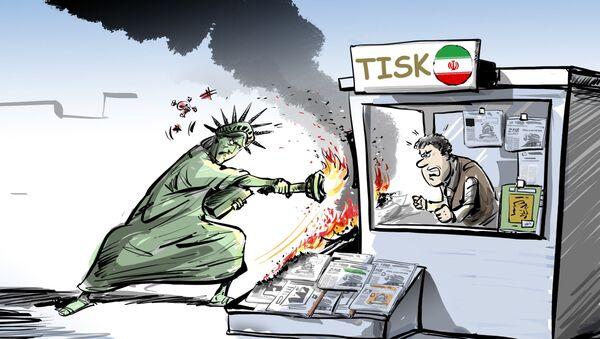 """Ministerstvo financí USA prosazuje """"mediální terorismus"""" vůči íránskému tisku  - Sputnik Česká republika"""