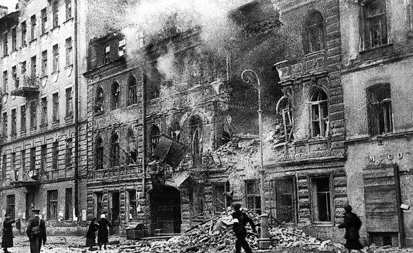 Leningrad během ostřelování. 1. března 1942. - Sputnik Česká republika