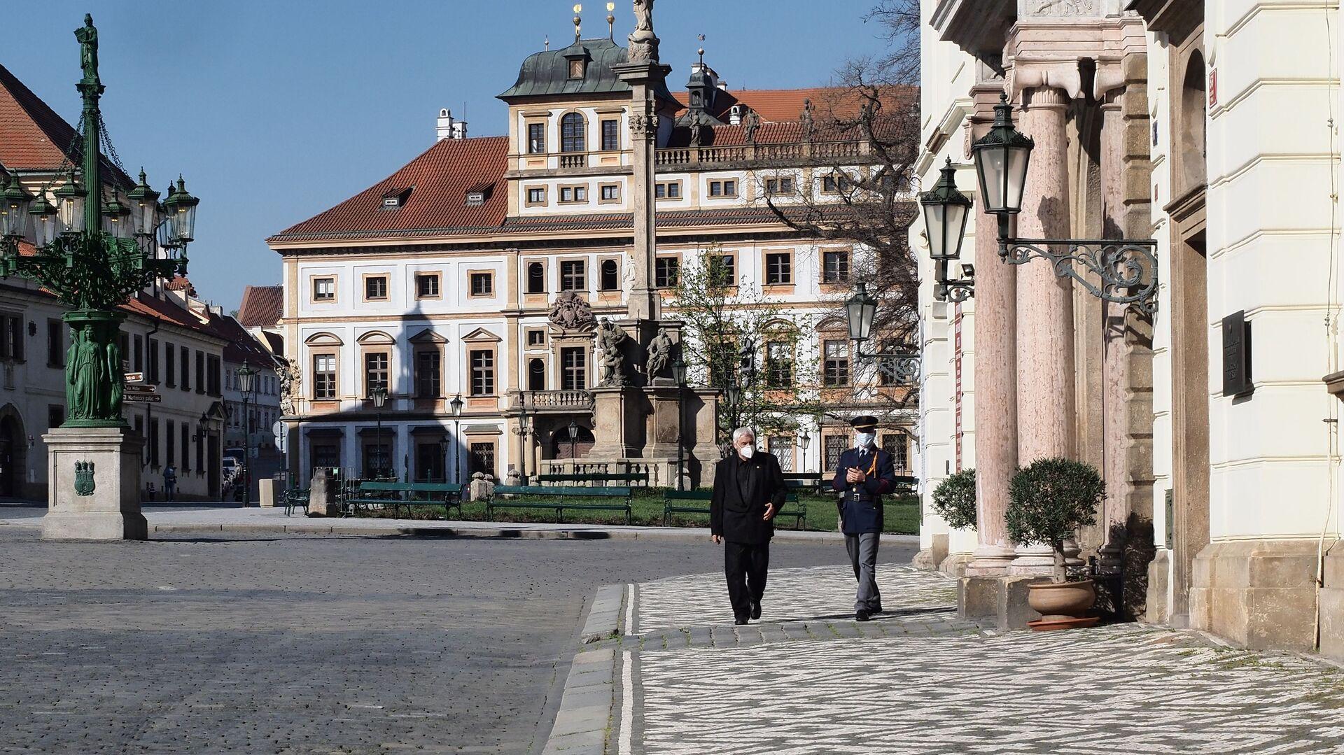 Praha, Hradčanské náměstí - Sputnik Česká republika, 1920, 12.04.2021