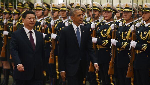 Si Ťin-pching a Barack Obama - Sputnik Česká republika
