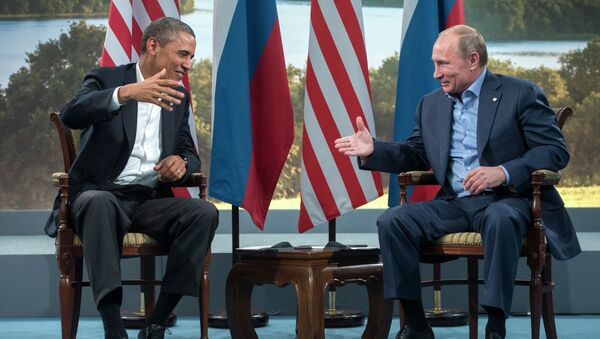 Barack Obama a Vladimir Putin - Sputnik Česká republika