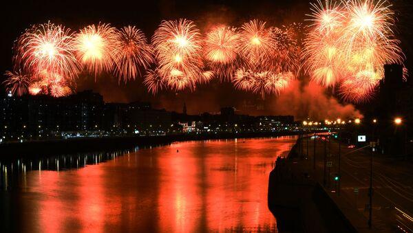 ohňostroj na počest 75. výročí vítězství ve Velké vlastenecké válce - Sputnik Česká republika